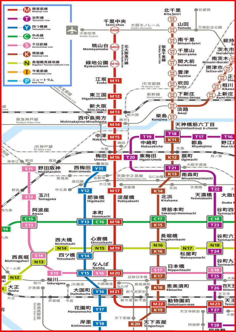 大阪 地下鉄路線図 大阪メトロ