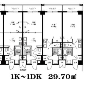 クリーデンス新大阪(1K~1DK)