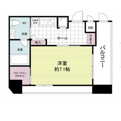 プライムアーバン安堂寺町-1K(26.05㎡)